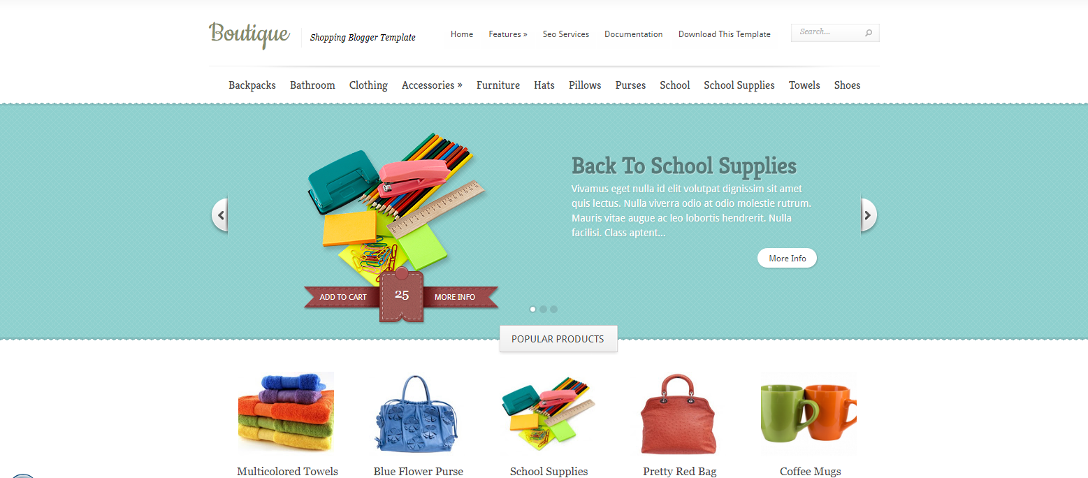 Template E-Commerce Blogger | Template blogger gratis